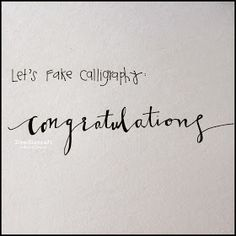 How to Fake Script Calligraphy!  Scrolly, scripty, flowy, gorgeous penmanship is all the rage right now! Calligraphy is beautiful but can be difficult.  How to diy fake faux calligraphy.  Perfect script writing for wedding invitations or Christmas cards!