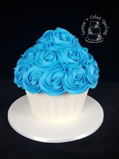 A giant cupcake for a little boy's smash cake photoshoot. www.facebook.com/cakesbyleannerhodes Giant Cupcakes, Cake Smash, Cake Decorating, Special Occasion, Wedding Cakes, Photoshoot, Facebook, Desserts, Food