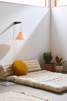 Rohini Velvet Daybed Cushion - Bohemian Home İdeas Zen Room, Floor Seating, Boho Living Room, Modular Sofa, Floor Pillows, Day Bed Cushions, Floor Cushion Couch, Throw Pillows, Large Floor Cushions