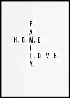 Family Scrabble Poster in the group Prints / Typography & quotes at Desenio AB Typography Quotes, Typography Poster, Art Quotes, Inspirational Quotes, Typography Prints, Buy Posters, Quote Posters, Poster 40x50, Text Poster