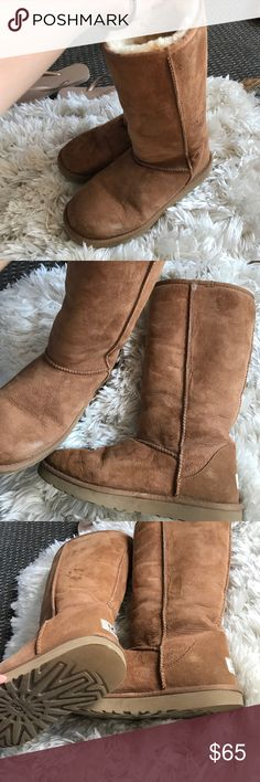 Ugg long tall boots brown/tan Warm and comfy used a couple of times UGG Shoes Winter & Rain Boots