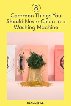 8 Things You Should Never Clean in a Washing Machine | For a general cheat sheet of everyday things you shouldn't wash in the washing machine, consult our list to help keep your items in great condition. #cleaningtips #cleanhouse #realsimple #stepbystepcleaning #cleaninghacks #cleaningguide