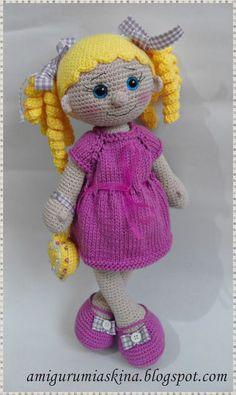 Amigurumi Aşkına Örgü Oyuncaklarım: Lola Bebeğim-Amigurumi Örgü Oyuncak Bebek ♡