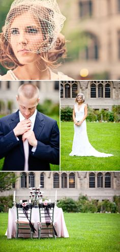 wedding shots on St. Mary's green