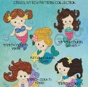 Sweet Little Mermaid XStitch Collection - via @Craftsy