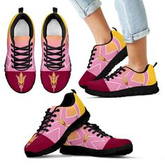 Arizona State Sun Devils Cancer Pink Ribbon Sneakers – Best Funny Store