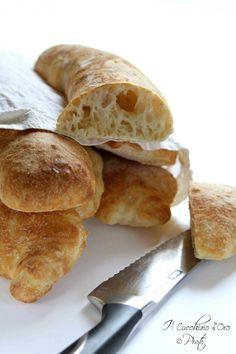 Ciabatte di pane senza impasto