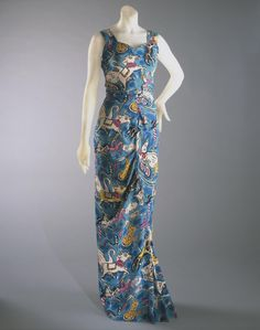 Woman's Evening Dress and Veil  Designed by Elsa Schiaparelli, French (born Italy), 1890 - 1973  Geography: Made in Paris, France, Europe Da...