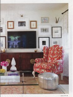 How to incorporate a television into a wall.
