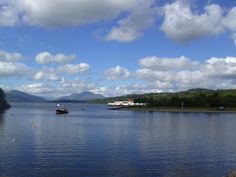 SCOTLAND:  View of Loch Lomond from the south.  The paddle steamer 'Maid of the Loch' on show and Ben Lomond in the background.  #travel #scotland #lochlomond #paddlesteamer