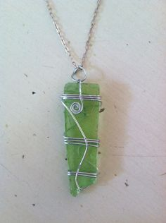 Wire Wrapped Sea Glass Pendant. $20.00, via Etsy.