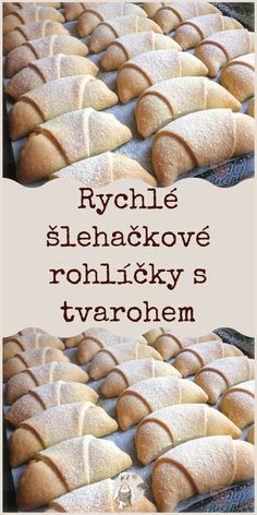 Rychlé šlehačkové rohlíčky s tvarohem Czech Desserts, Diy Christmas Gifts For Friends, Country Christmas Decorations, Food Platters, Recipe For Mom, Something Sweet, Baked Goods, Sweet Recipes, Deserts