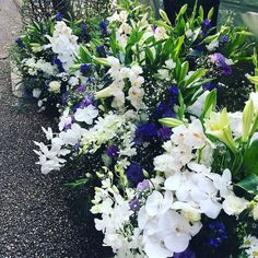 Beautiful flowers on the side of the road waiting for delivery here in Kyoto Japan.
