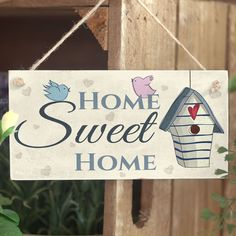 Home Sweet Home - Handmade House Warming Present Cute Home Decor Accessory in Home, Furniture & DIY, Home Decor, Plaques & Signs | eBay!