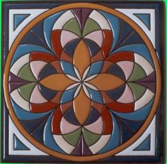 . Ceramic Pottery, Ceramic Art, Glazed Tiles, Concrete Crafts, Terracota, Drawing Projects, Art N Craft, Mandala Painting, Ceramic Design