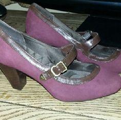 Shoes Burgundy/Purple with brown trim Giani Bernini Shoes