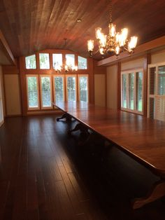 This hardwood install I did had a 24ft long dining table.