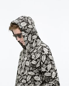 ZARA - MAN - JACQUARD HOODED JACKET Hoodie Sweatshirts, Zara Official Website, Zara Man, Hooded Jacket, Hoods, High Neck Dress, Jackets, Outfits, Awesome
