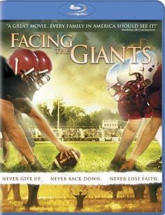 """""""Facing the Giants"""" - Christian Movie/Film on Blu-ray from Sherwood Pictures. Check out Christian Film Database for more info - http://www.christianfilmdatabase.com/review/facing-the-giants/"""