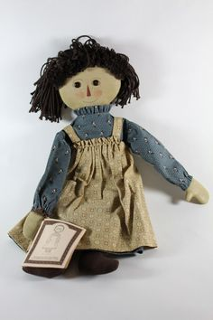 Raggedy Ann type doll, Gail Wilson design, on Etsy.  Dolls were made from a kit.