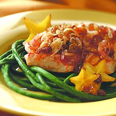 Baked Alaska cod with California raisin sambal
