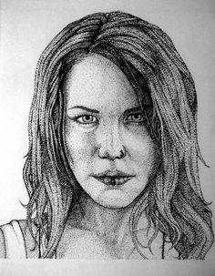 Ilustración, puntillismo - Tinta china. Alissa White-Gluz