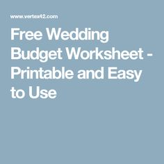 easy wedding budget excel template wedding pinterest wedding