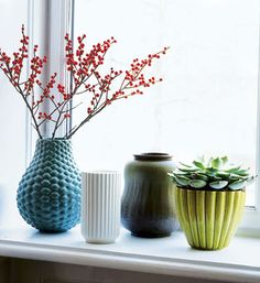 #colorspotting mod vases in the hues of Devine Koala, Devine Iguana and Devine Bison.