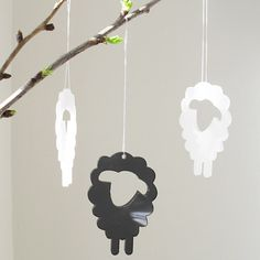 Easter Lambs in grey transparent plexiglas by Spagat on Etsy