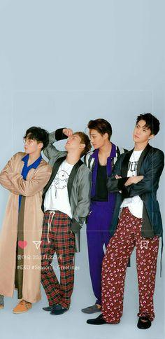 Xiumin, Chen, Kai and Sehun