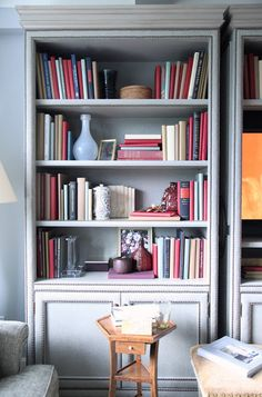 Beautiful bookcase details, Thomas O'Brien for Hickory Chair