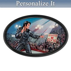 """Bruce Emmett """"The King of My Heart"""" Elvis Art Collector Plate with Your Name"""