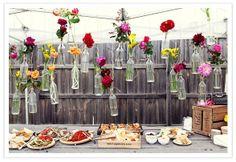 Beautiful outside party buffet