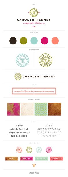 Brand Reveal // Carolyn Tierney Interiors // Grit & Wit #branding #interiordesign