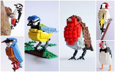 TOM POULSOM CREATES FEATHERED FRIENDS FROM THOSE ICONIC PLASTIC BRICKS.