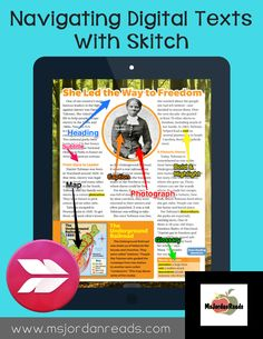 Navigating Digital Texts with Skitch | A blog post from @MsJordanReads focusing on different ways to use the Skitch app with iPads in the classroom