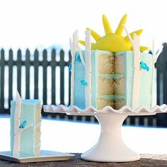 Spring-Theme Forest Cake by Worth Pinning.  My cake on BHG.com!  #BHGprettyfood