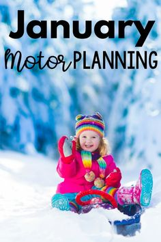 Motor planning ideas for the month of January. Ideas perfect for the month of January. This includes themed ideas for each week in January. Make motor planning - fine motor and gross motor easy with all the ideas! Child Development Activities, Motor Skills Activities, Gross Motor Skills, Music Activities, Educational Activities For Toddlers, Winter Activities For Kids, Infant Activities, Pediatric Physical Therapy, Pediatric Ot