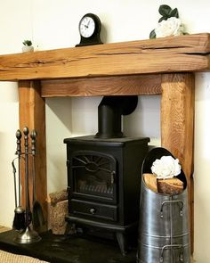 This fabulous SOLID OAK BEAM fire surround makes a charming addition in any room. Crafted from solid oak beam. They are brushed and sanded giving a textured but smooth soft finish and then can be oiled or waxed to your preferred finish. Fireplace Decor, Home Fireplace, Wooden Fireplace Surround, Fireplace Tile, Wood, Oak Fireplace, Wooden Fireplace, Oak Fire Surround, Wooden Fire Surrounds