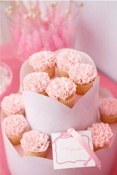 Nutcracker Ballerina Birthday Pink Ruffles Cupcake