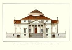 Villa La Rotonda, Vicenza, northern Italy, designed by Andrea Palladio.