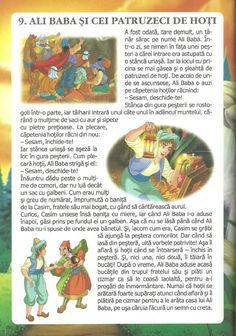 52 de povesti pentru copii.pdf Ali Baba, Fairy Tales, Parenting, School, Bullet Journal, Preschool, Short Stories, Character, Rome