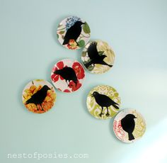 Nest of Posies: Easy copycat/DIY vinyl {Halloween images} Silhouette Projects, Silhouette Images, Bird Silhouette, Halloween Images, Halloween Crafts, Halloween Decorations, Crafts To Make, Fun Crafts, Crazy Bird