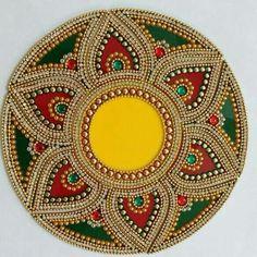 Call / whatsapp 8108101524 to get this rangoli 13 piece Diya Rangoli Cd Crafts, Hobbies And Crafts, Diy And Crafts, Arts And Crafts, Arti Thali Decoration, Kalash Decoration, Diwali Decorations, Festival Decorations, Mandala Design