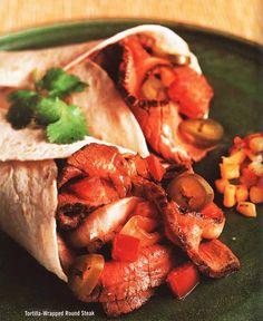 Tortilla -Wrapped Round Steak
