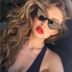 52bd9e7f41 LeonLion 2018 New Sexy Cat Eye Sunglasses Women Brand Designer Two Sizes  Vintage Sun Glasses Men Outdoor Goggles Oculos De Sol