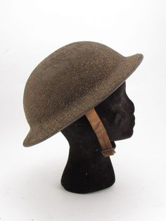 Brodie Army Helmet WWI US M1917 Leather Chinstraps & Liner World War 1 USA