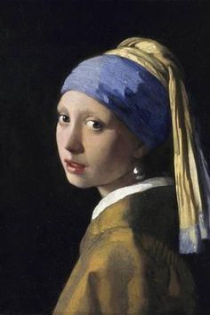 """Johannes Vermeer Girl with a Pearl Earring, oil on canvas, cm × 39 cm, Mauritshuis, The Hague. This """"Mona Lisa of the North"""" or the """"Dutch Mona Lisa"""" is one of Dutch painter Johannes Vermeer's masterworks and uses a pearl earring for a. Johannes Vermeer, Tim's Vermeer, Most Famous Paintings, Classic Paintings, Famous Artwork, Beautiful Paintings, Classic Artwork, Art History, Painting Art"""