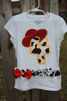 jessie bday shirt. Or I can just have her wear her costume :)