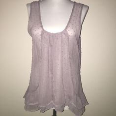 Large lilac see through blouse Lilac see through blouse with intricate lacings Tops Blouses